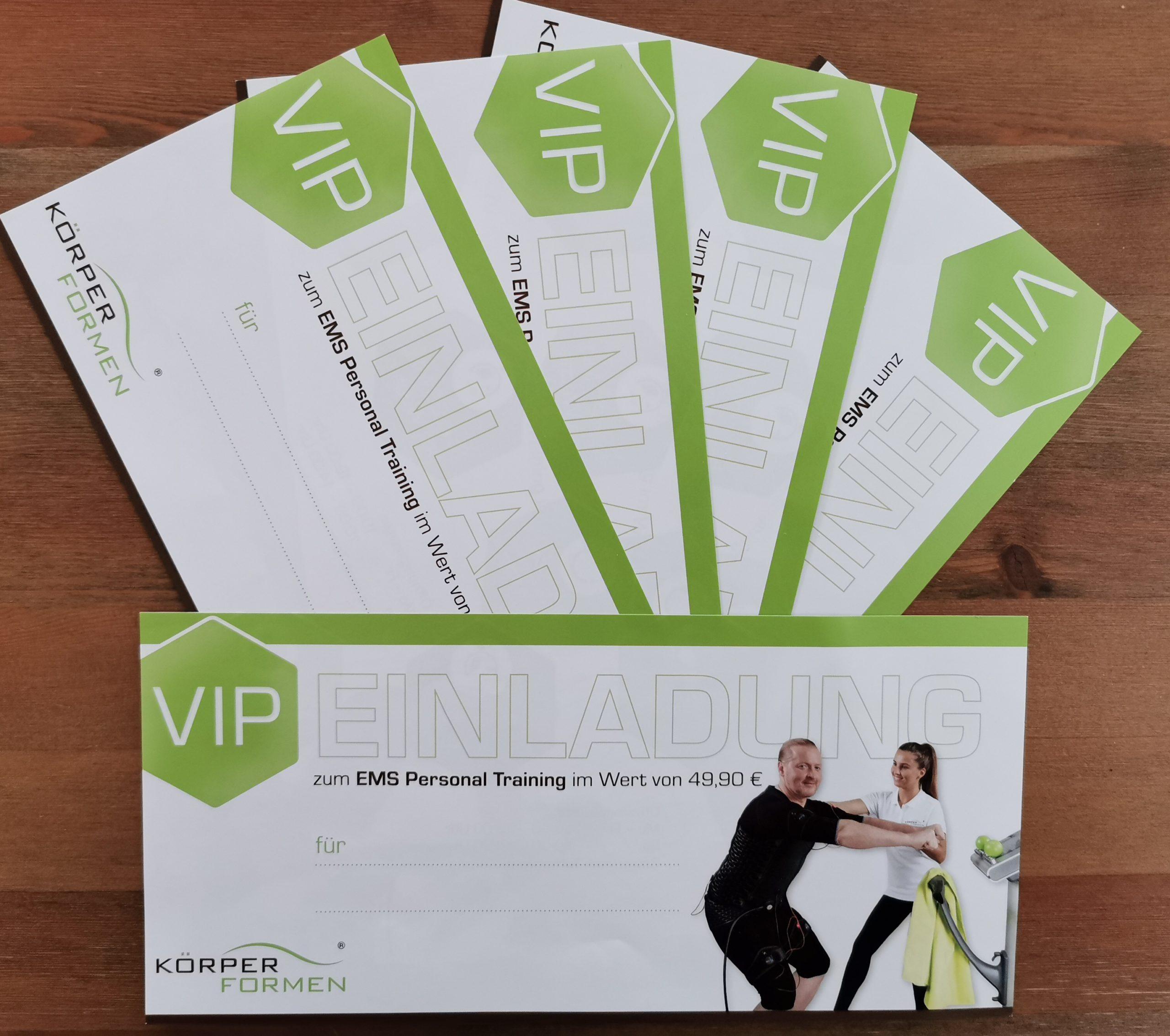 5 VIP Gutscheine für ein EMS-Training zu verschenken.