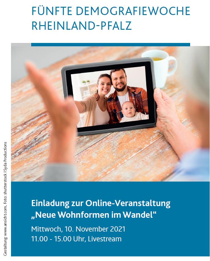 """10.11.2021: Onlineveranstaltung: """"Neue Wohnformen im Wandel"""""""